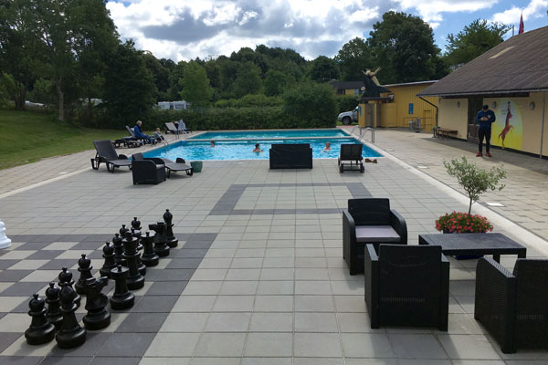 Swimmingpool at Camp Møns Klint in Denmark