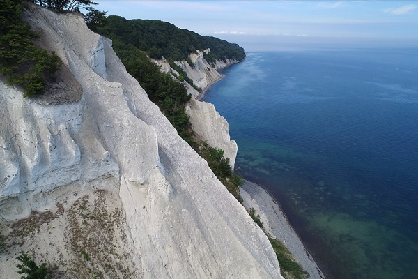 The cliffs at Camp Møns Klint in Denmark
