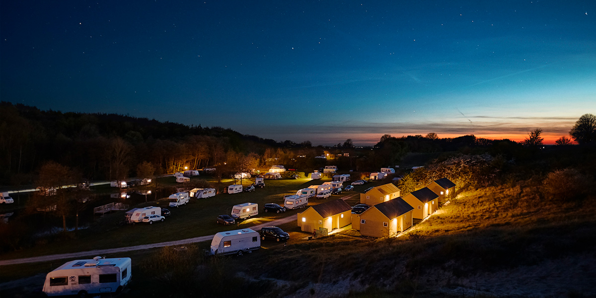 Campingground at Camp Møns Klint in Denmark