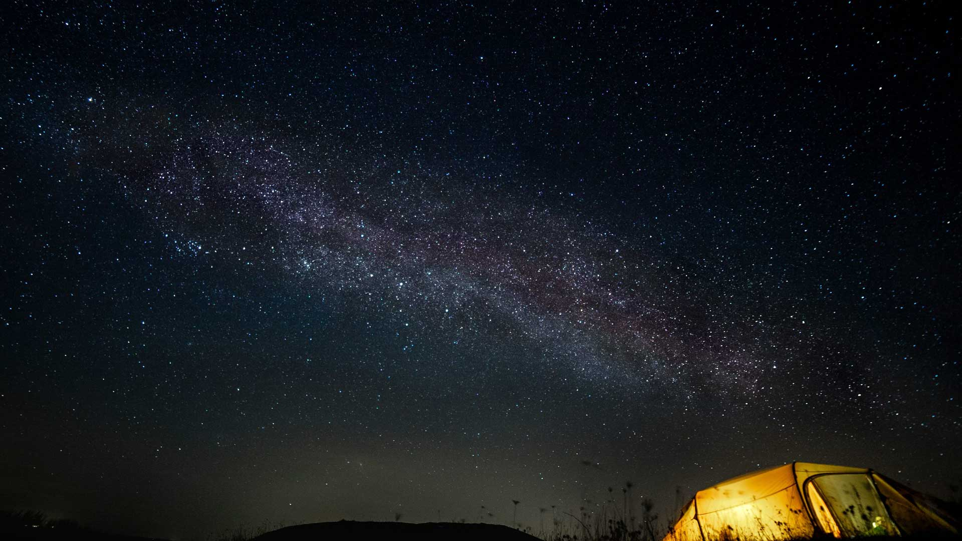 Stargazing at Camp Møns Klint in Denmark